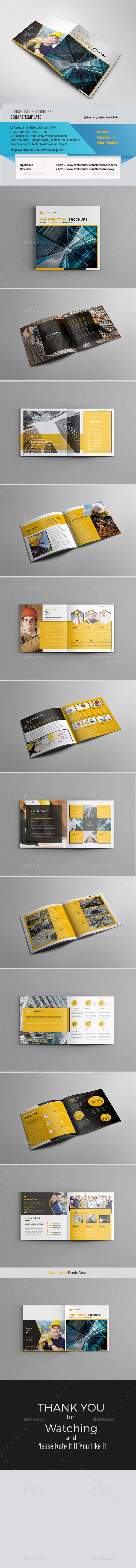 GraphicRiver Square Construction Brochure 21196105
