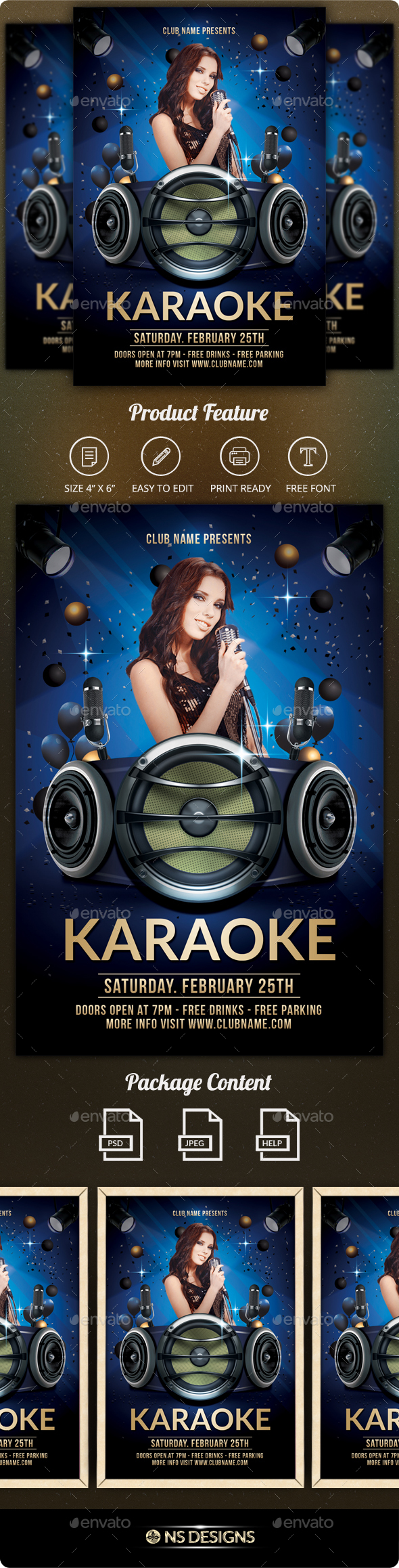 GraphicRiver Karaoke Flyer 21196235