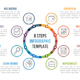 Circle Infographics with Eight Steps