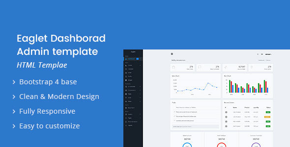 Eaglet - Dashboard Admin Template - Admin Templates Site Templates
