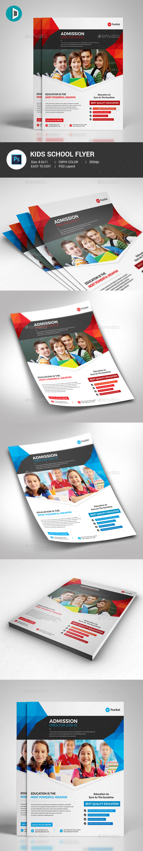 GraphicRiver Kids School Flyer Template 21196324