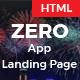ZERO - App Landing Page