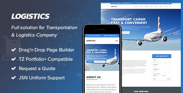 Logistics - Transportation & Logistics Joomla Template - Business Corporate