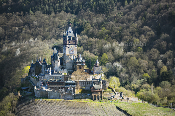 Reichsburg Cochem In The Eifel, Germany - Stock Photo - Images