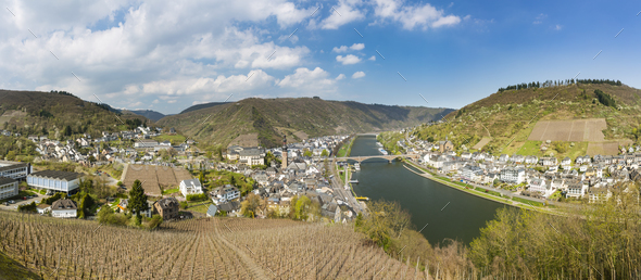 Cochem And Moselle Panorama, Germany - Stock Photo - Images