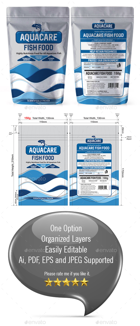 GraphicRiver Fish Food Packaging Template 21196452