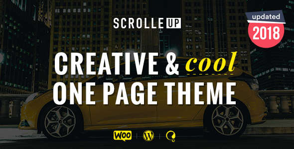 ScrolleUP - Creative One Page WordPress Theme - Portfolio Creative
