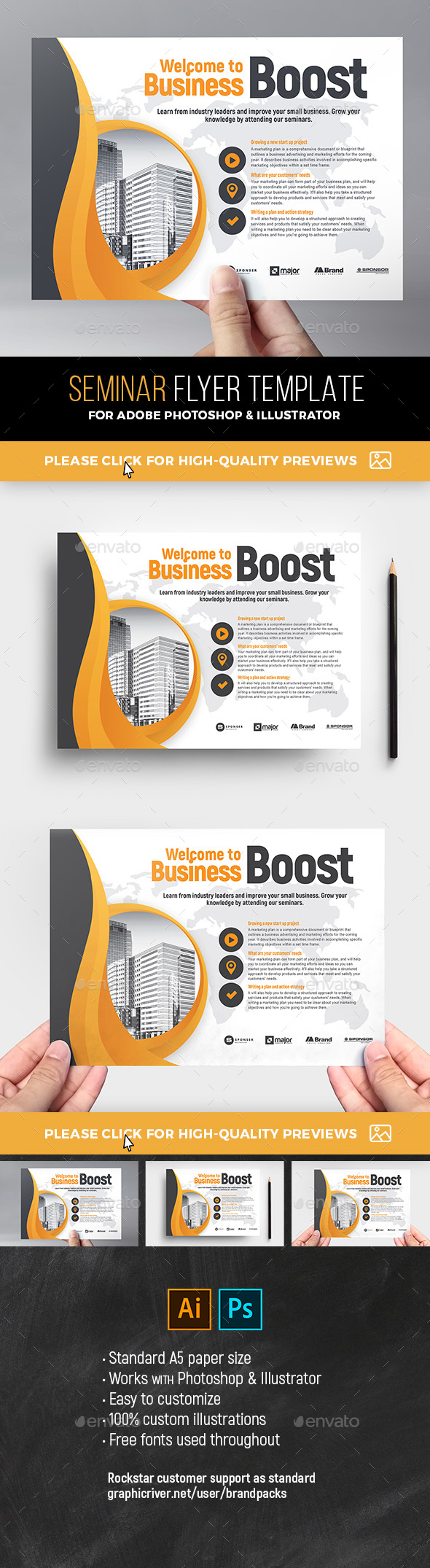 GraphicRiver Corporate Flyer Template 21196609