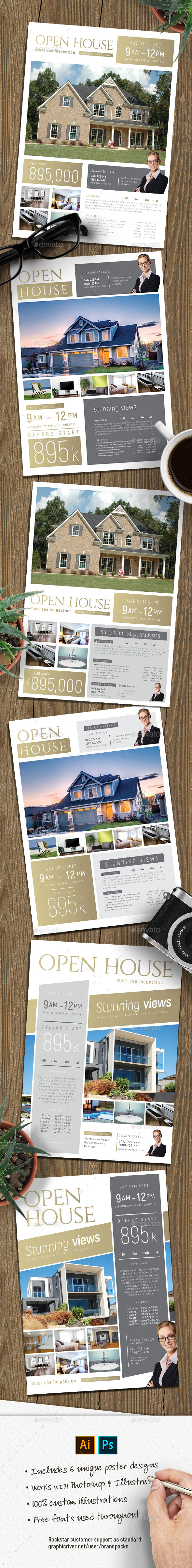 GraphicRiver Open House Poster Templates 21115690