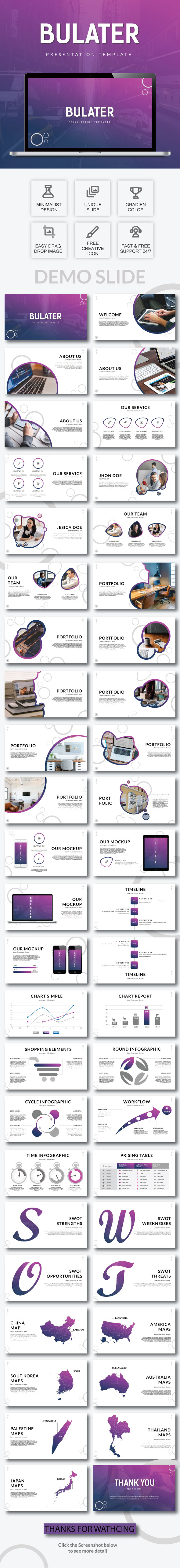 GraphicRiver Bulater Google Slide Template 21196762