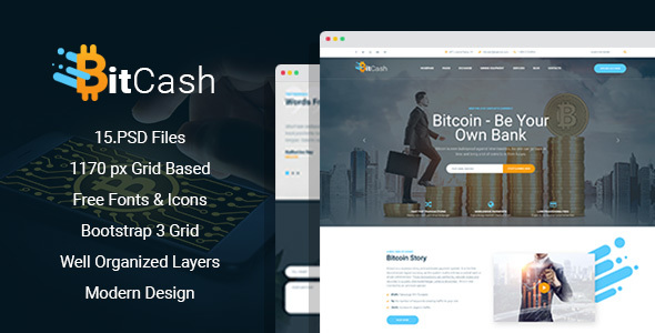 BitCash - Bitcoin PSD Template