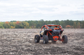 Quad bike of red color shot from behind - PhotoDune Item for Sale