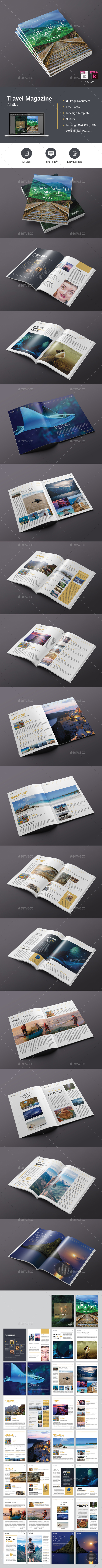 Travel Magazine - Magazines Print Templates