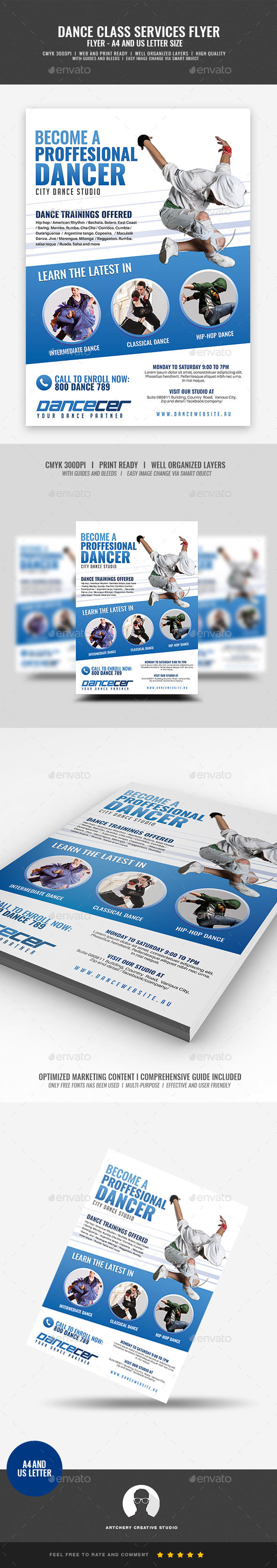GraphicRiver Dance Class And Studio Flyer 21197164