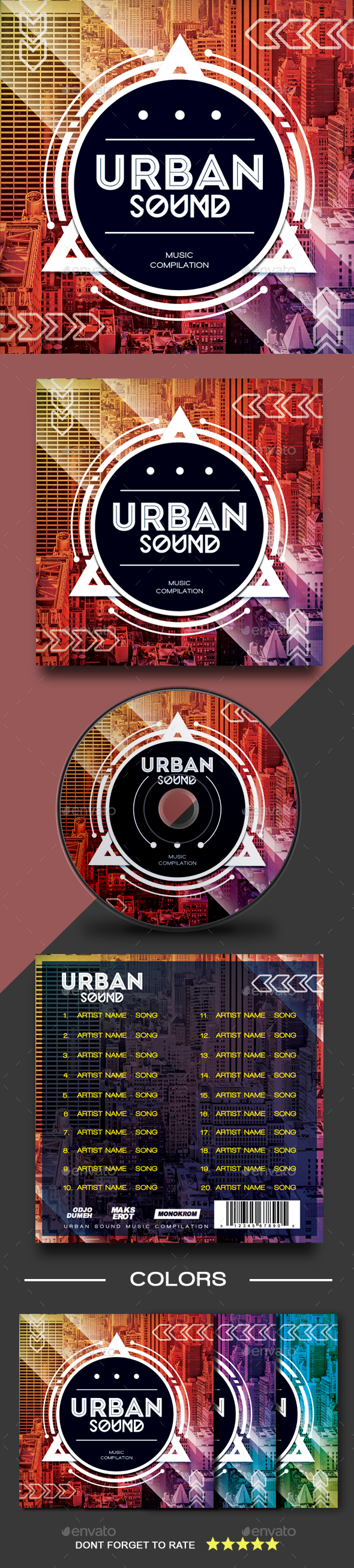 GraphicRiver Urban Sound CD Cover Artwork 21197203