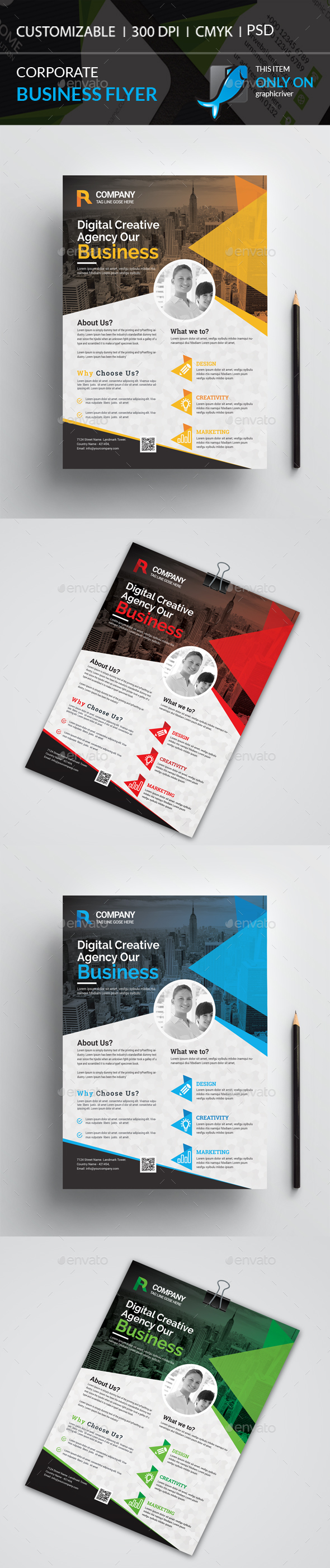 GraphicRiver Corporate Flyer 21197251