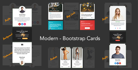 Modern - Bootstrap 4 Cards - CodeCanyon Item for Sale
