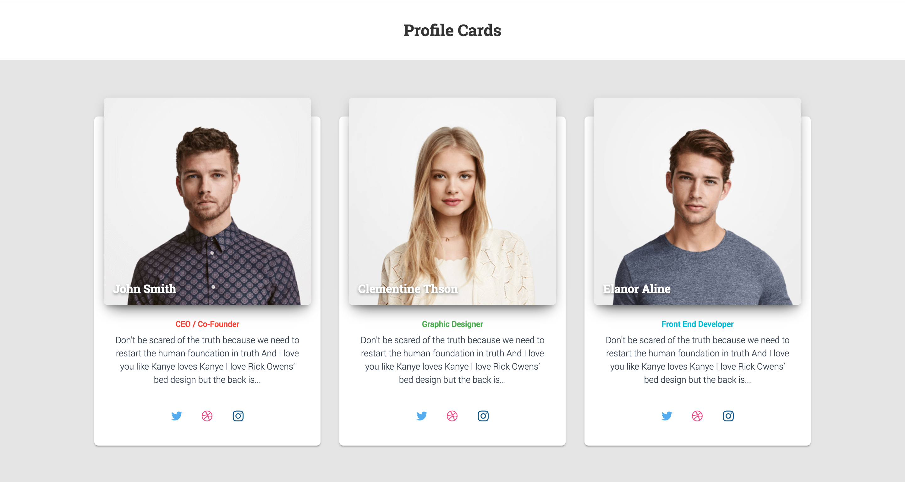 Modern - Bootstrap 4 Cards