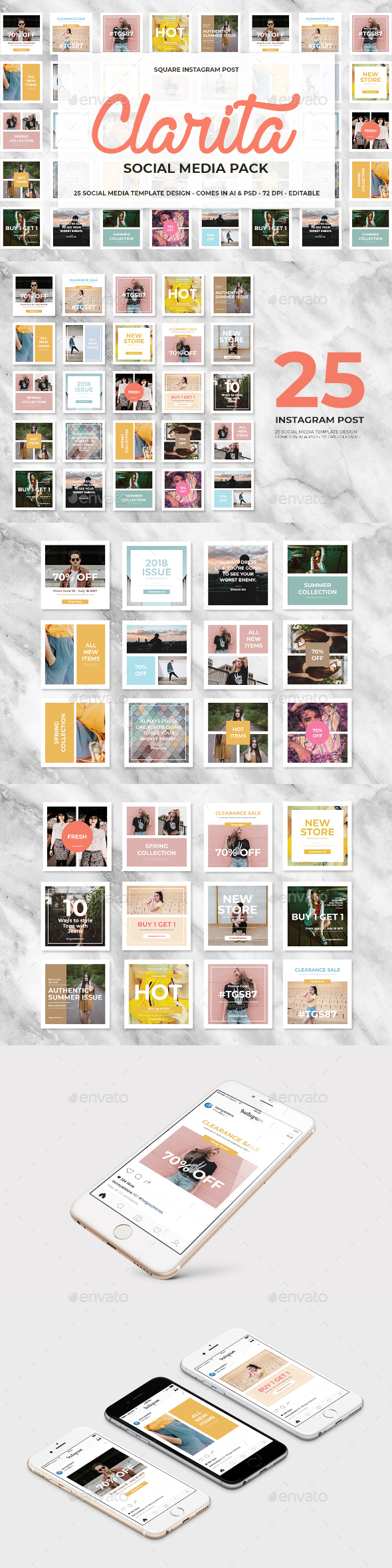 GraphicRiver Clarita Social Media Pack 21197309