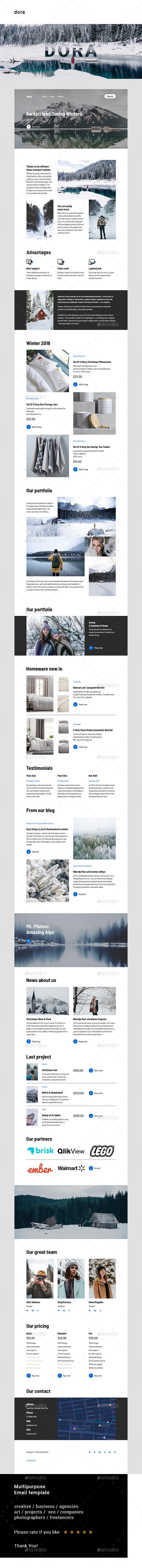 Dora – Multipurpose Email Template - E-newsletters Web Elements