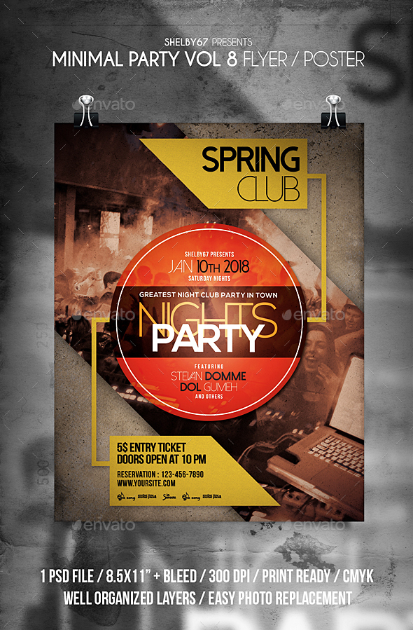 GraphicRiver Minimal Party Flyer Vol 8 21197395