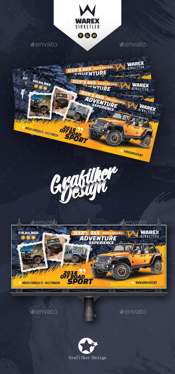 GraphicRiver Off-Road Adventure Billboard Templates 21197419