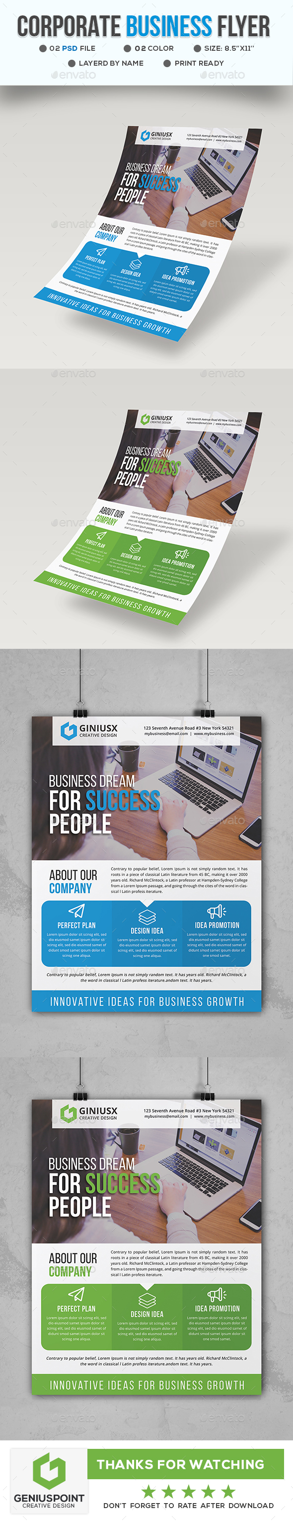 GraphicRiver Corporate Business Flyer 21197420