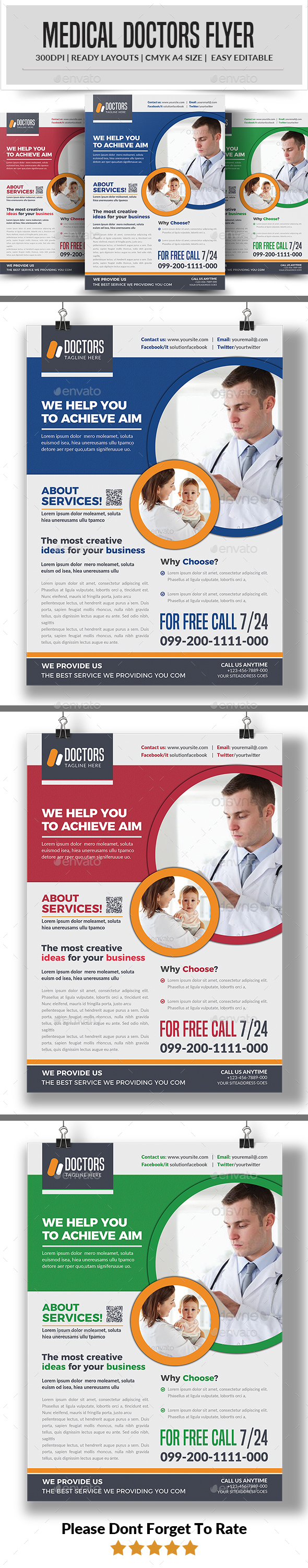 GraphicRiver Doctors Flyer 21197427