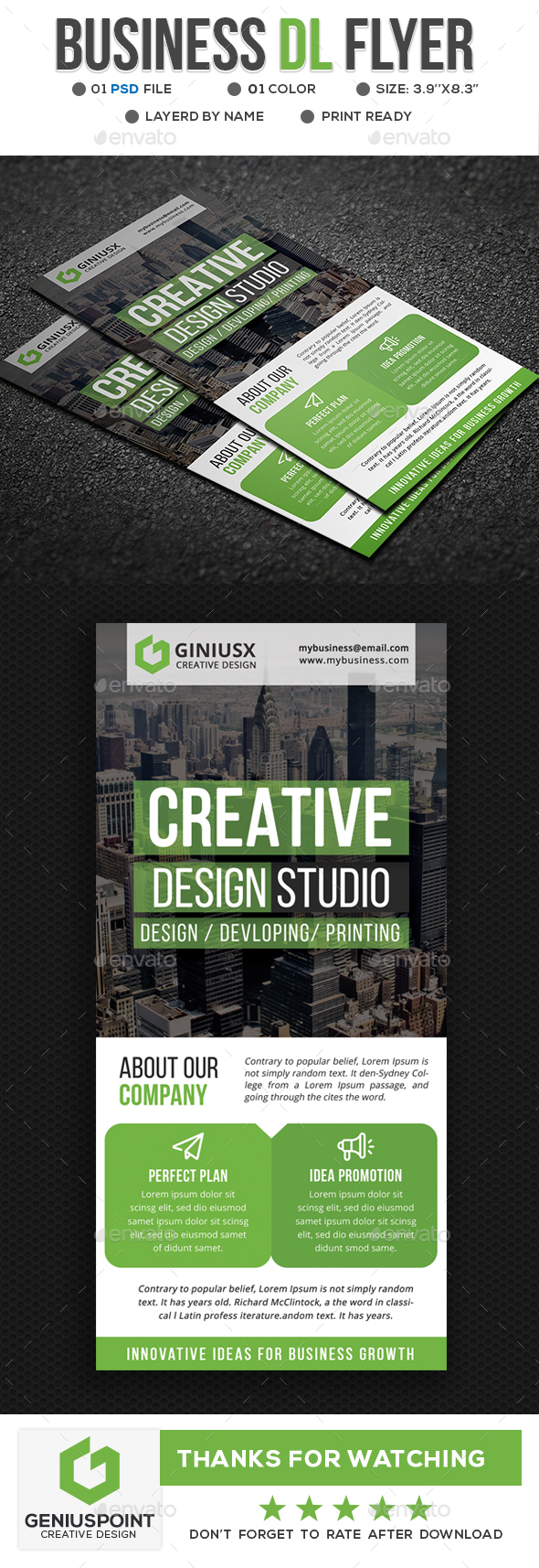 GraphicRiver Business DL Flyer 21197436