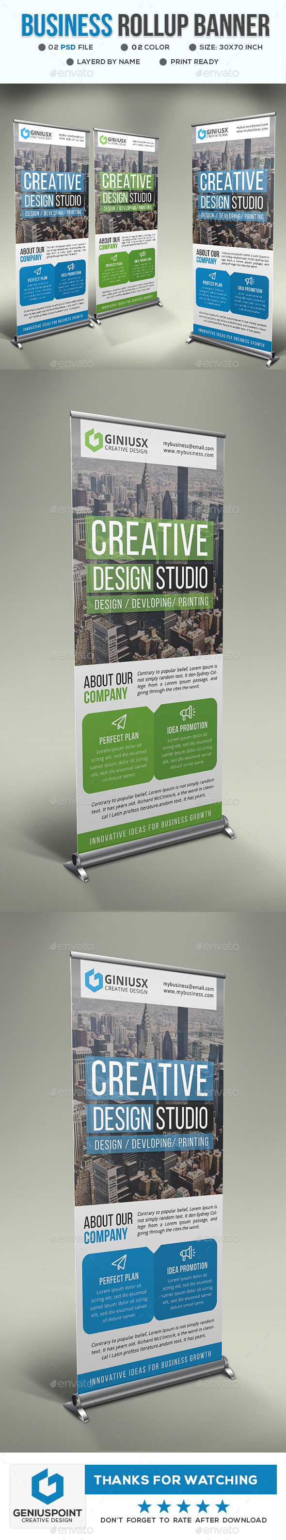 GraphicRiver Corporate Roll-Up Banner 21197440