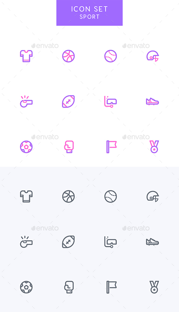 GraphicRiver Sport Icons Set 21197448
