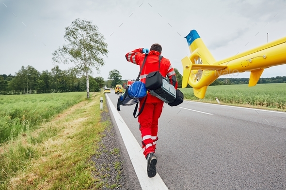 Helicopter emergency medical service - Stock Photo - Images