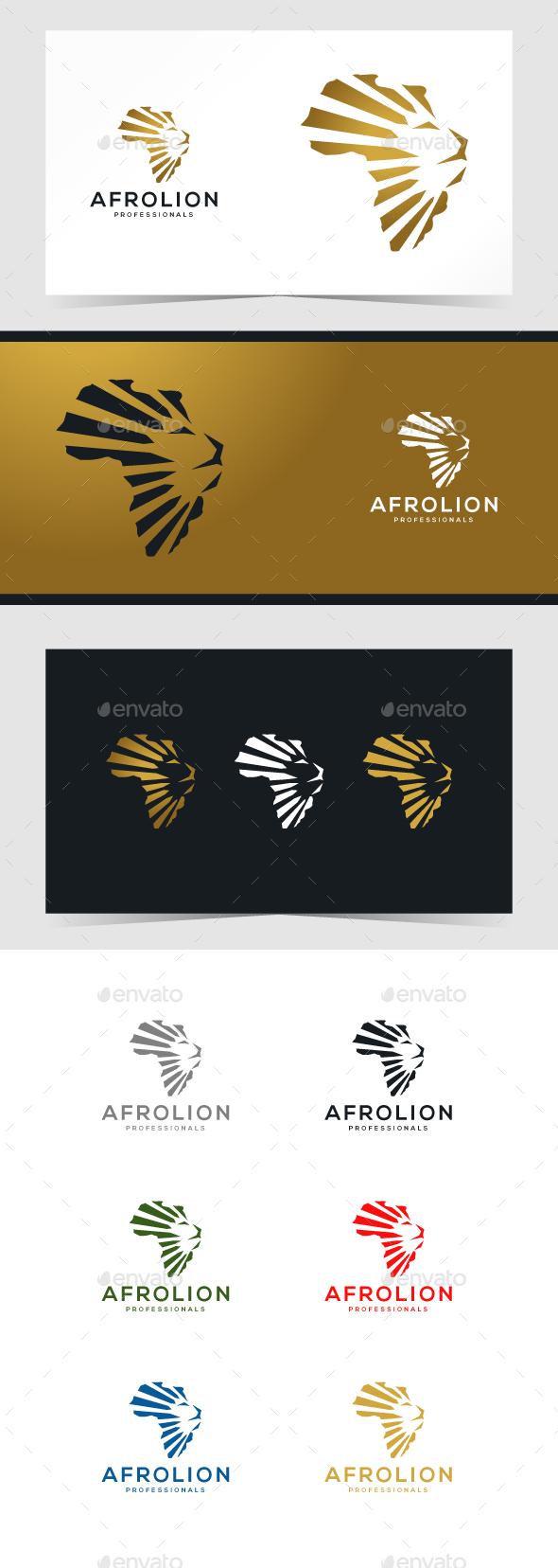 African Lion Logo Template - Animals Logo Templates