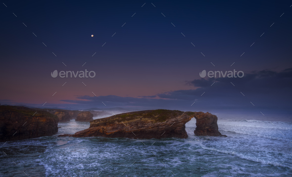 As Catedrais moonlight - Stock Photo - Images
