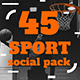 Sports Social Media Template Pack - GraphicRiver Item for Sale