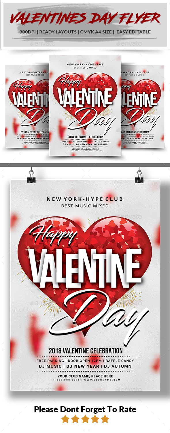 Valentines Day Flyer Invitation - Events Flyers