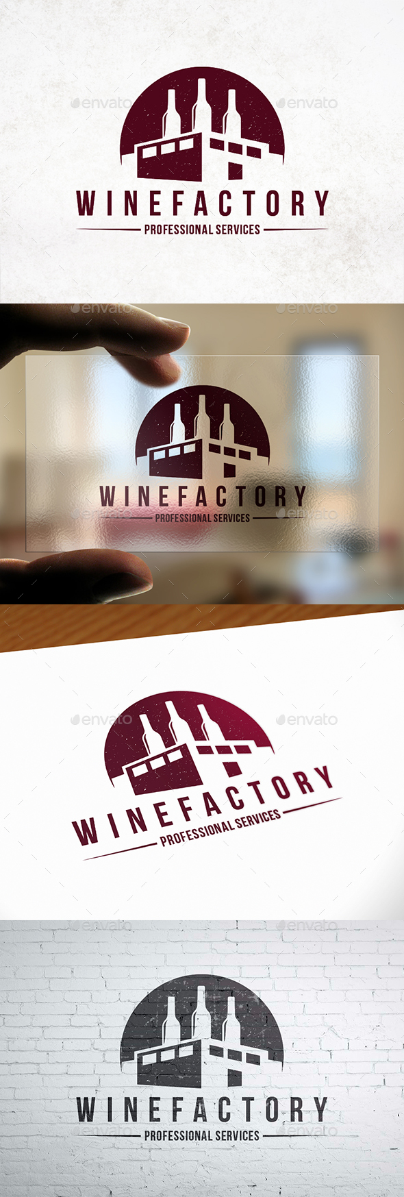 GraphicRiver Industry Wine Label Logo 21197941
