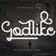 Godlike monoline font - GraphicRiver Item for Sale
