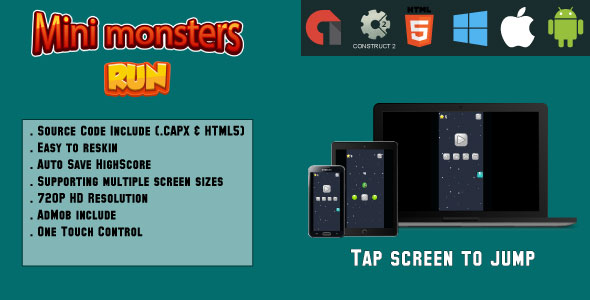 Download Source code              Mini Monster Run - (HTML5 and MOBILE)            nulled nulled version