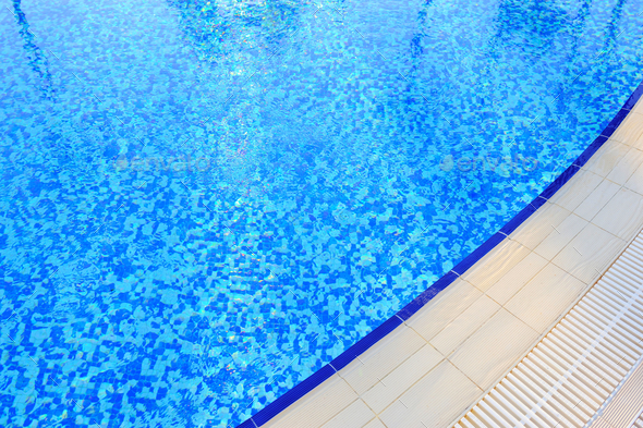 Swimming pool at hotel close-up - Stock Photo - Images