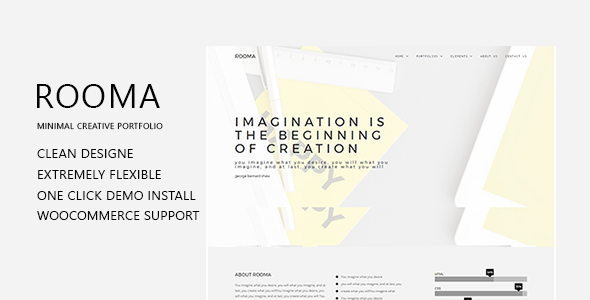Rooma Minimal Creative Portfolio WordPress Theme