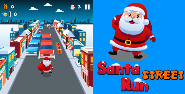 CodeCanyon Santa Street Run HTML5 Game 21169017