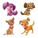 Cartoon Little Puppies Set