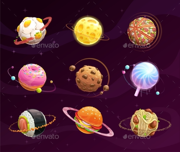GraphicRiver Food Planet Galaxy Concept 21198222