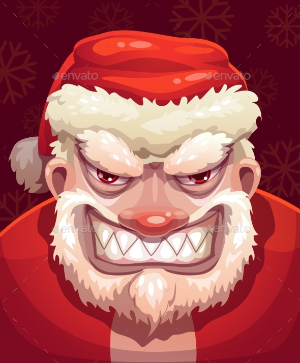 GraphicRiver Bad Santa Face 21198230