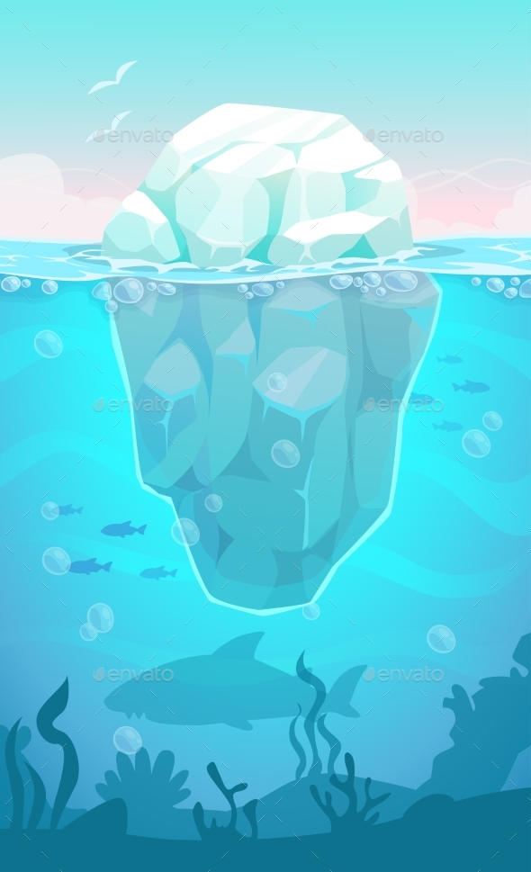 GraphicRiver Iceberg in the Ocean 21198233