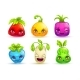 Cartoon Colorful Fantasy Plant Characters