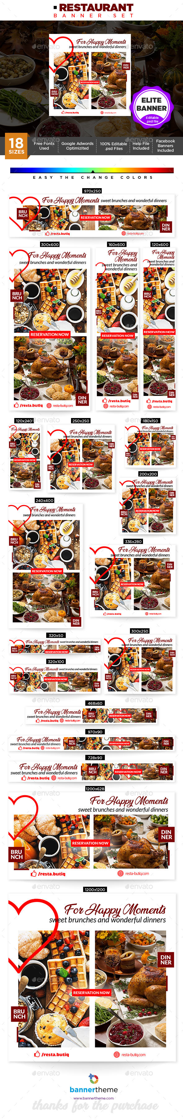 GraphicRiver Restaurant Banner 21198295