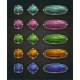Vector Magic Shiny Stone Buttons - GraphicRiver Item for Sale