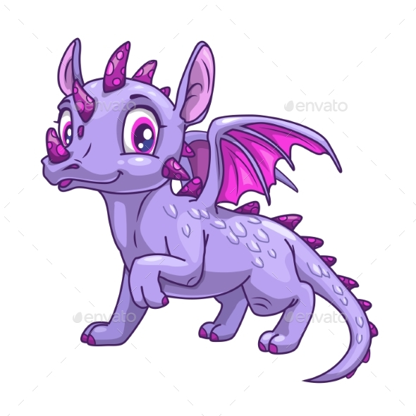 Cartoon Little Dragon Icon - Animals Characters